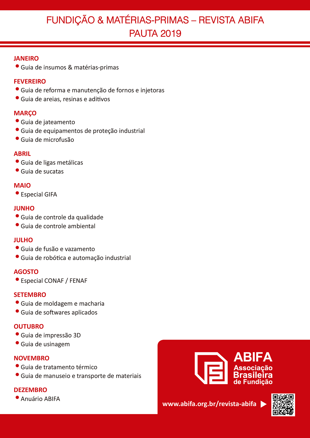 Pauta Revista ABIFA 2019