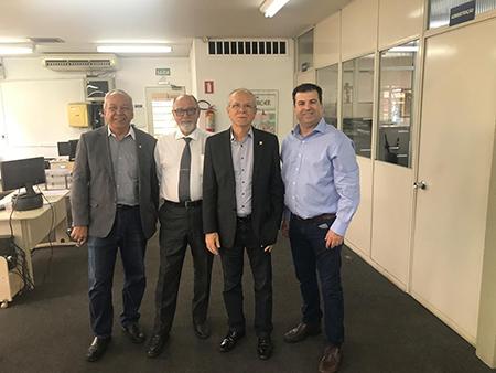 Da esquerda para a direita, Roberto João de Deus, José Rubens dos Santos, Afonso Gonzaga e Marcus Gimenes.