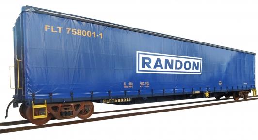 Vagão sider, ideal para o transporte de sacos de cimento e outras cargas paletizadas.