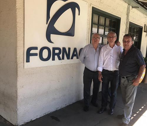 Da esquerda para a direita, Vandeir Leonardo Delaretti, Afonso Gonzaga e Heitor Edson Leonardo.