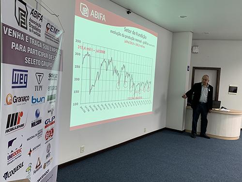 Roberto João de Deus discorre sobre os números do setor.