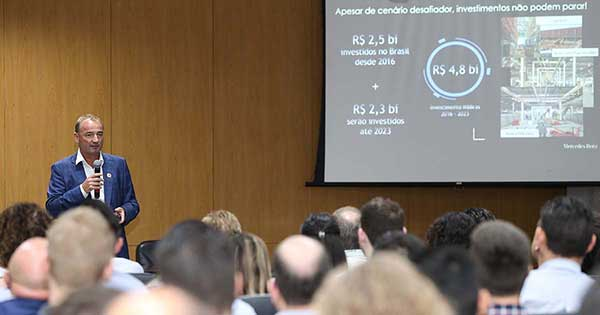 Philipp Schiemer, presidente da Mercedes-Benz do Brasil & Daimler Latin America. (Imagem: Cleber Gomes/ACIJ)