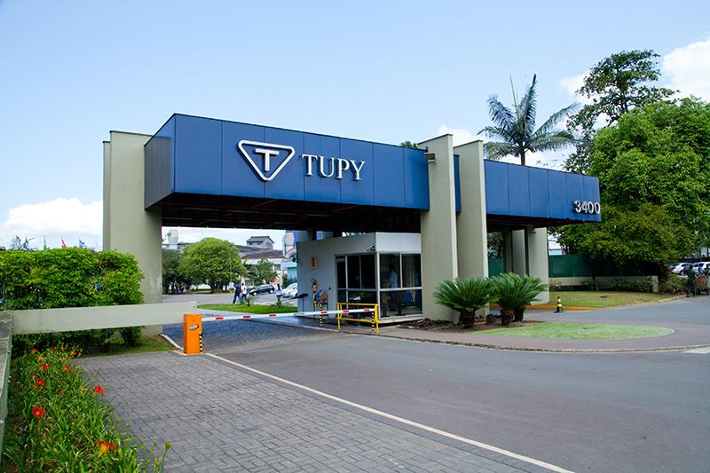 Fachada da Tupy, em Joinville (SC).